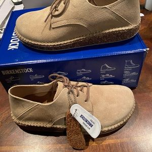 Birkenstock Gary tan leather 7 narrow new